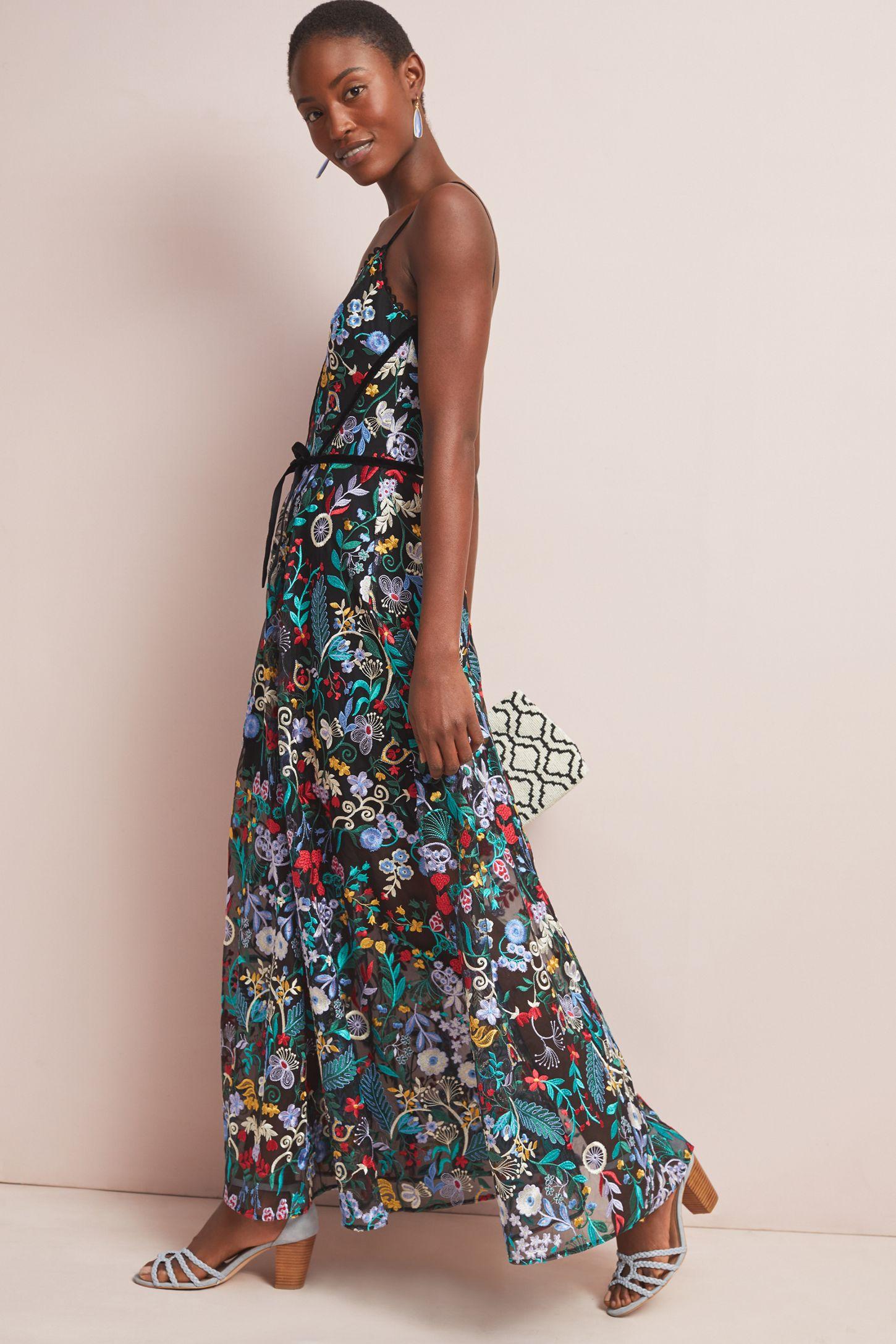 6a02108a4 ML Monique Lhuillier Poetess Maxi Dress