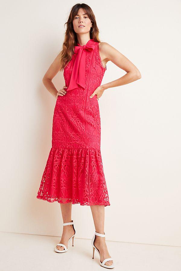 Ml Monique Lhuillier Lace Maxi Dress by Ml Monique Lhuillier
