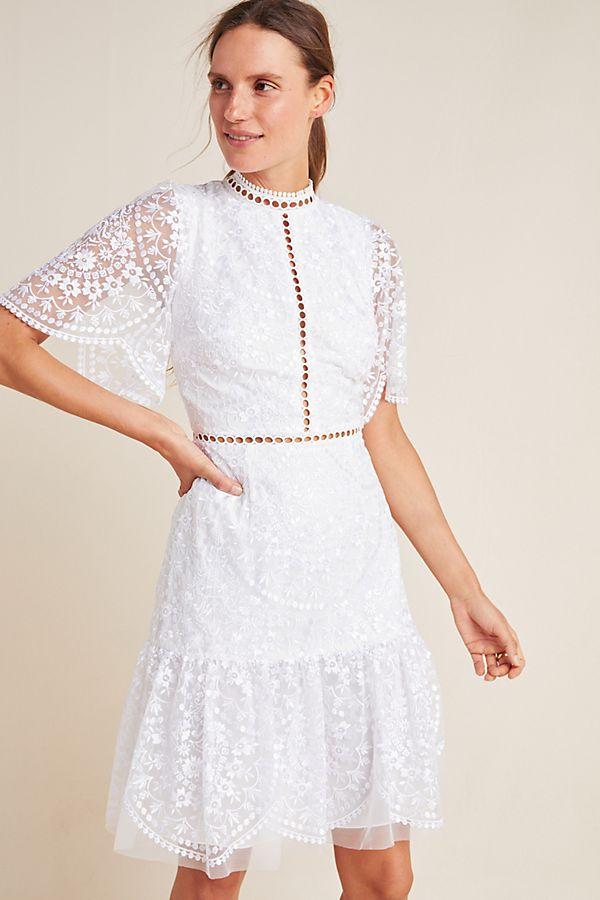 Slide View: 1: ML Monique Lhuillier Greta Lace Dress