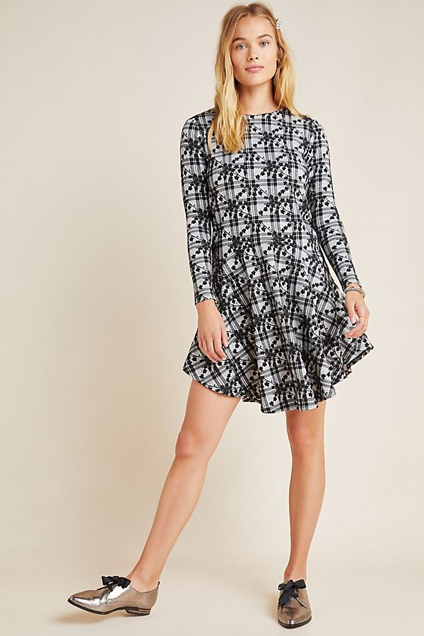 Slide View: 1: Jeanie Embroidered Plaid Tunic