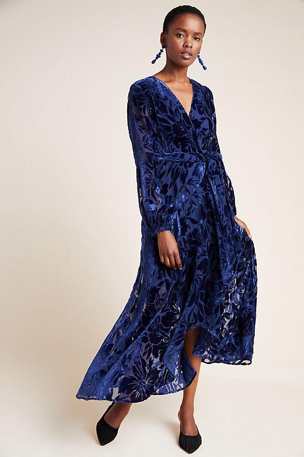 Slide View: 1: Daniella Velvet Maxi Dress