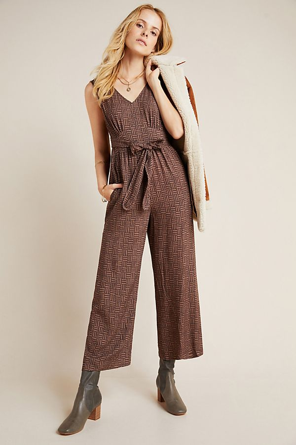 Slide View: 1: Radley Abstract Wide-Leg Jumpsuit