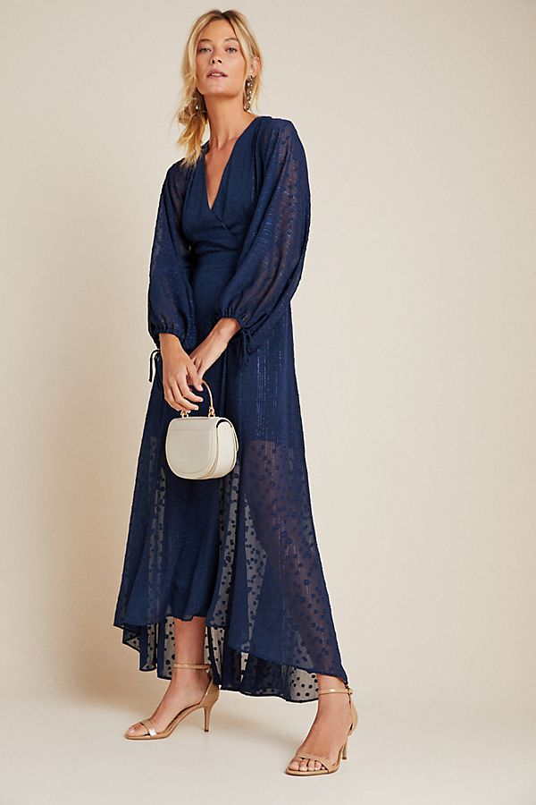 Slide View: 1: Leigh Wrap Maxi Dress