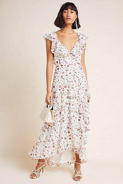 Sau Lee Jasmine Sequined Maxi Dress
