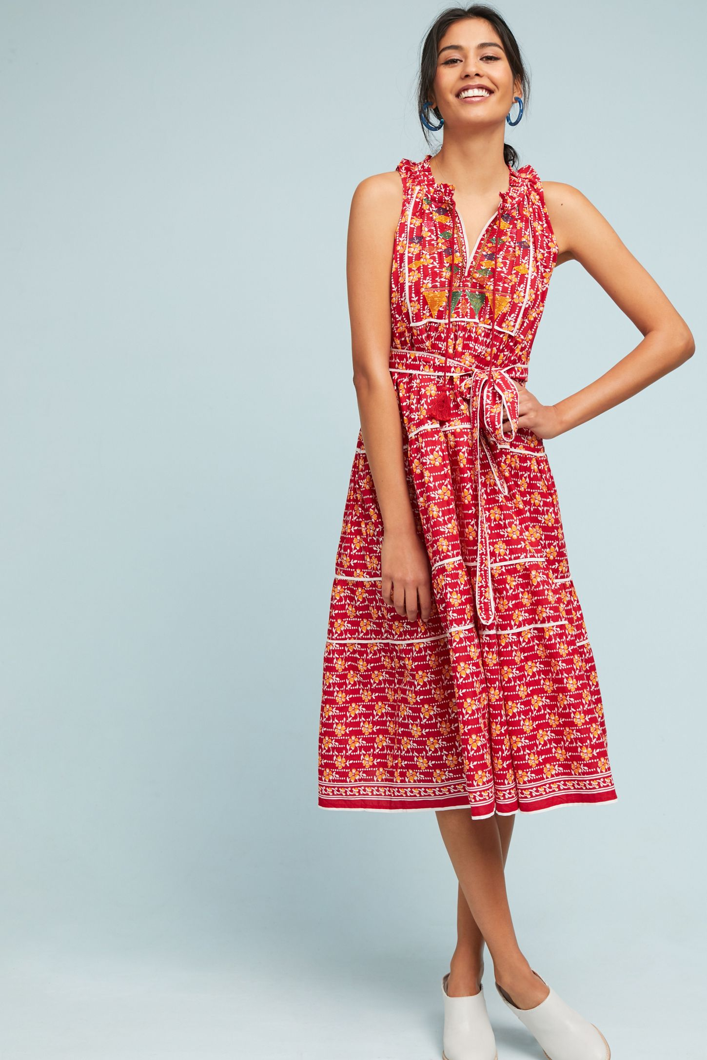 5d50fa6d917 Aditi Embroidered Halter Dress