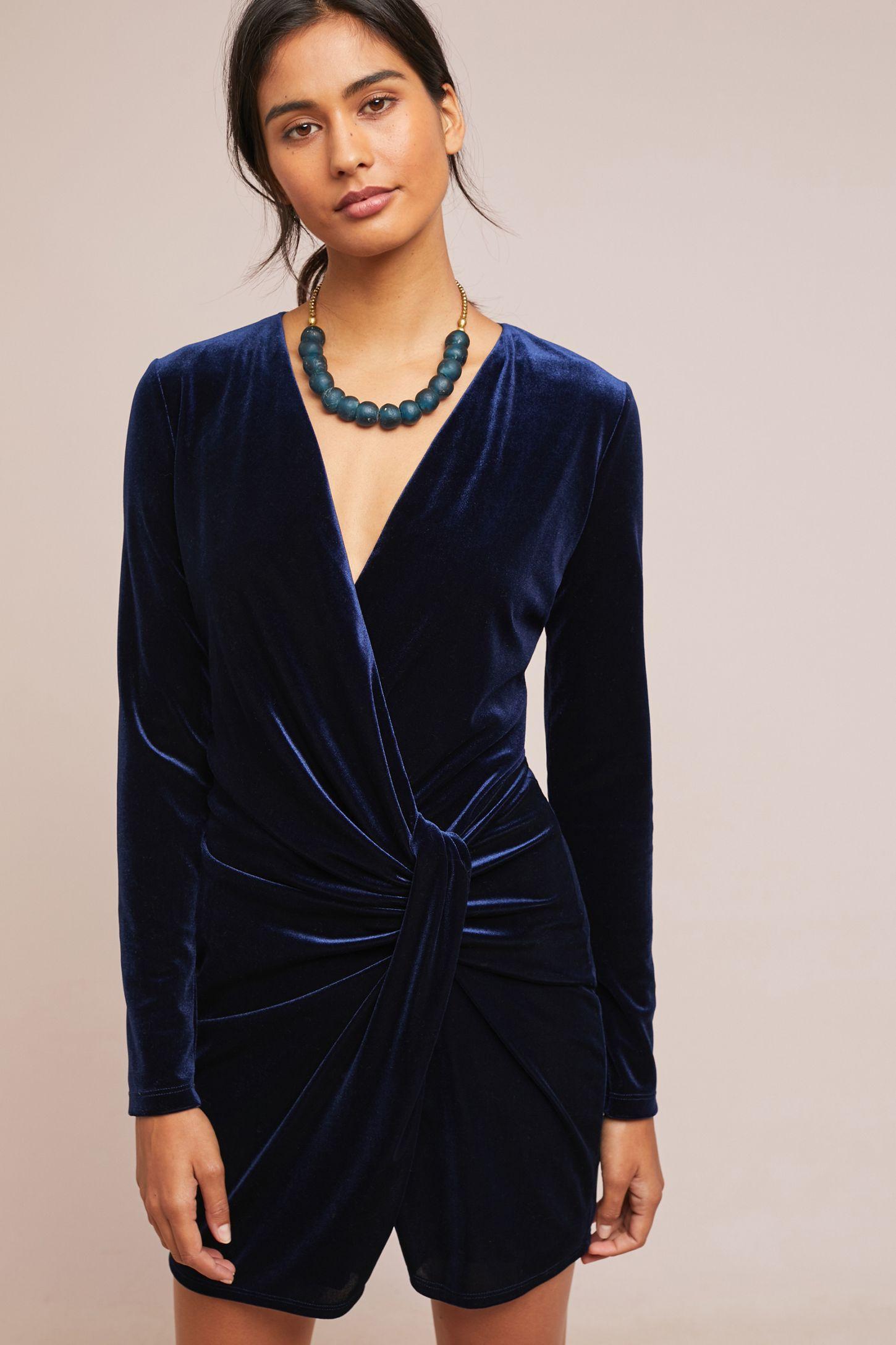 fb2adf510b5 Knotted Velvet Dress