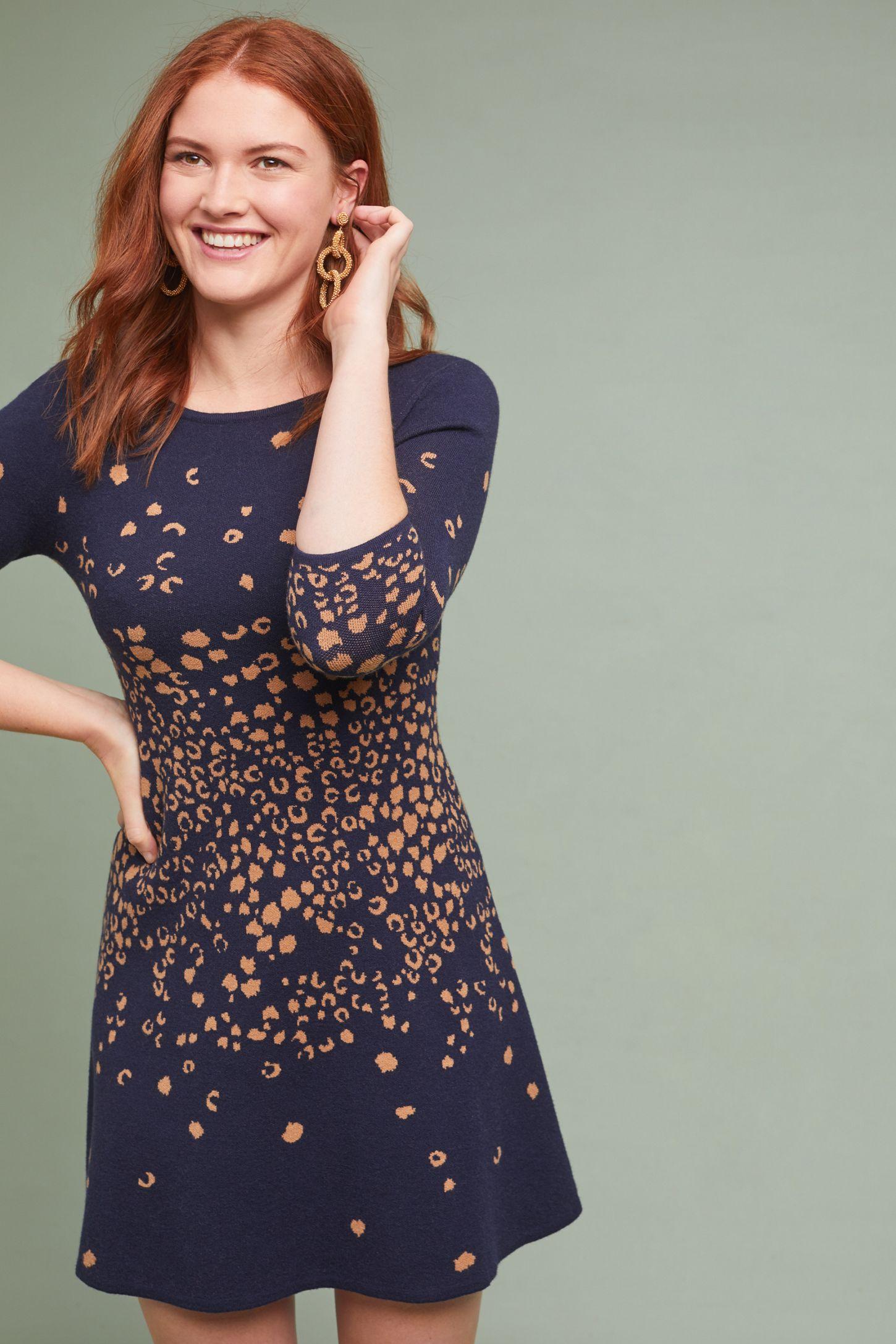 ec4a6686443 Leopard Sweater Dress