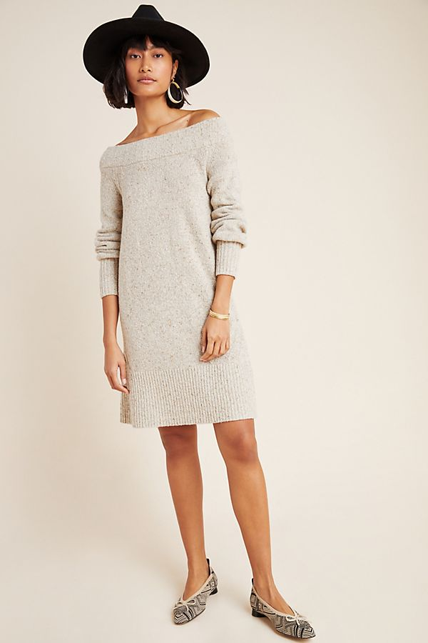 Slide View: 1: Kelton Boat Neck Tunic Sweater