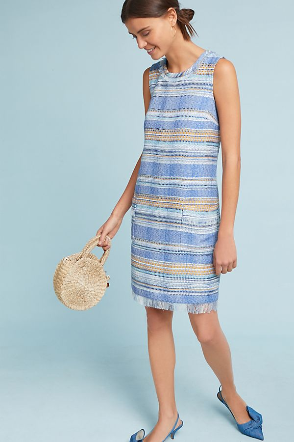 228a37219317 Striped Tweed Shift Dress | Anthropologie UK