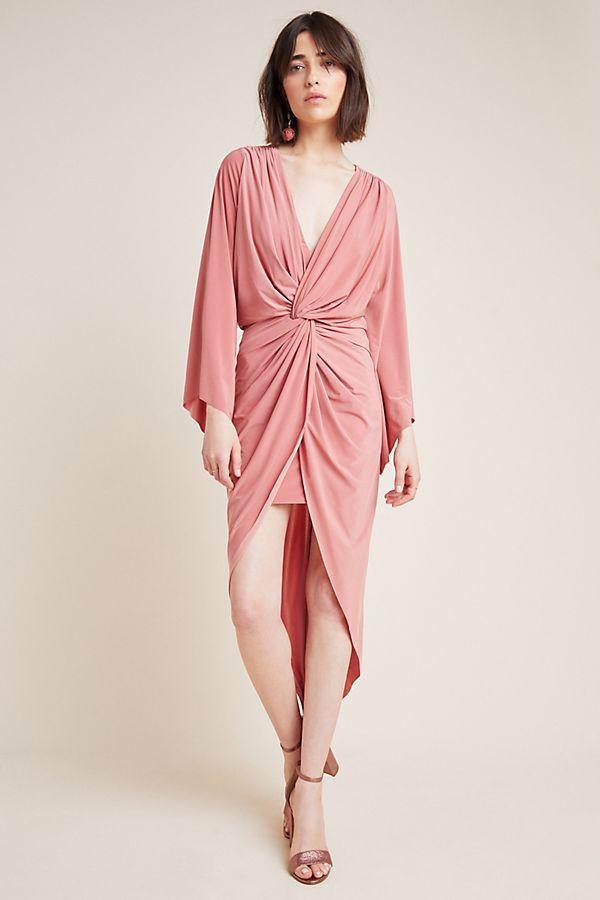 Slide View: 1: Teget Draped Dress