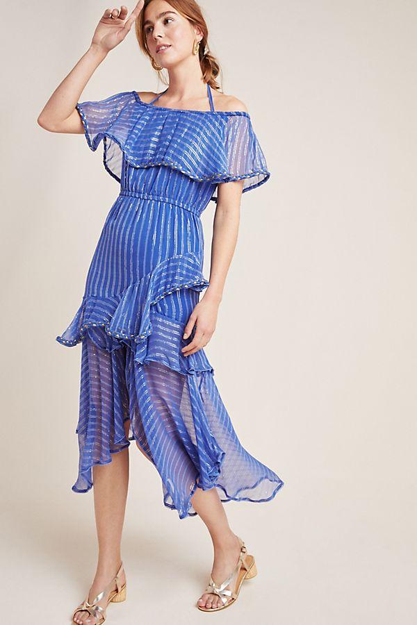 Slide View: 1: Ambrosia Ruffled Maxi Dress
