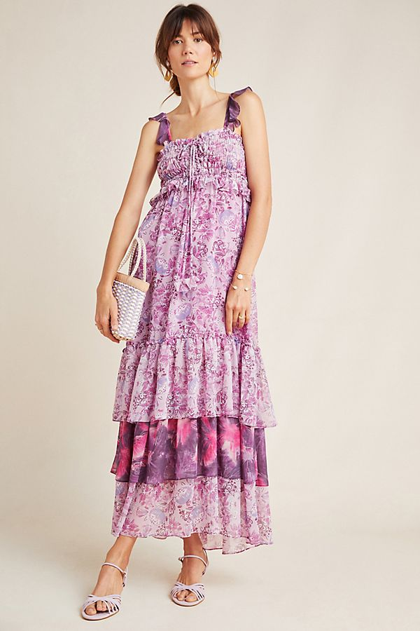 Slide View: 1: Danielle Tiered Maxi Dress