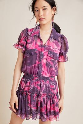 Eleanor Tiered Shirtdress by Misa