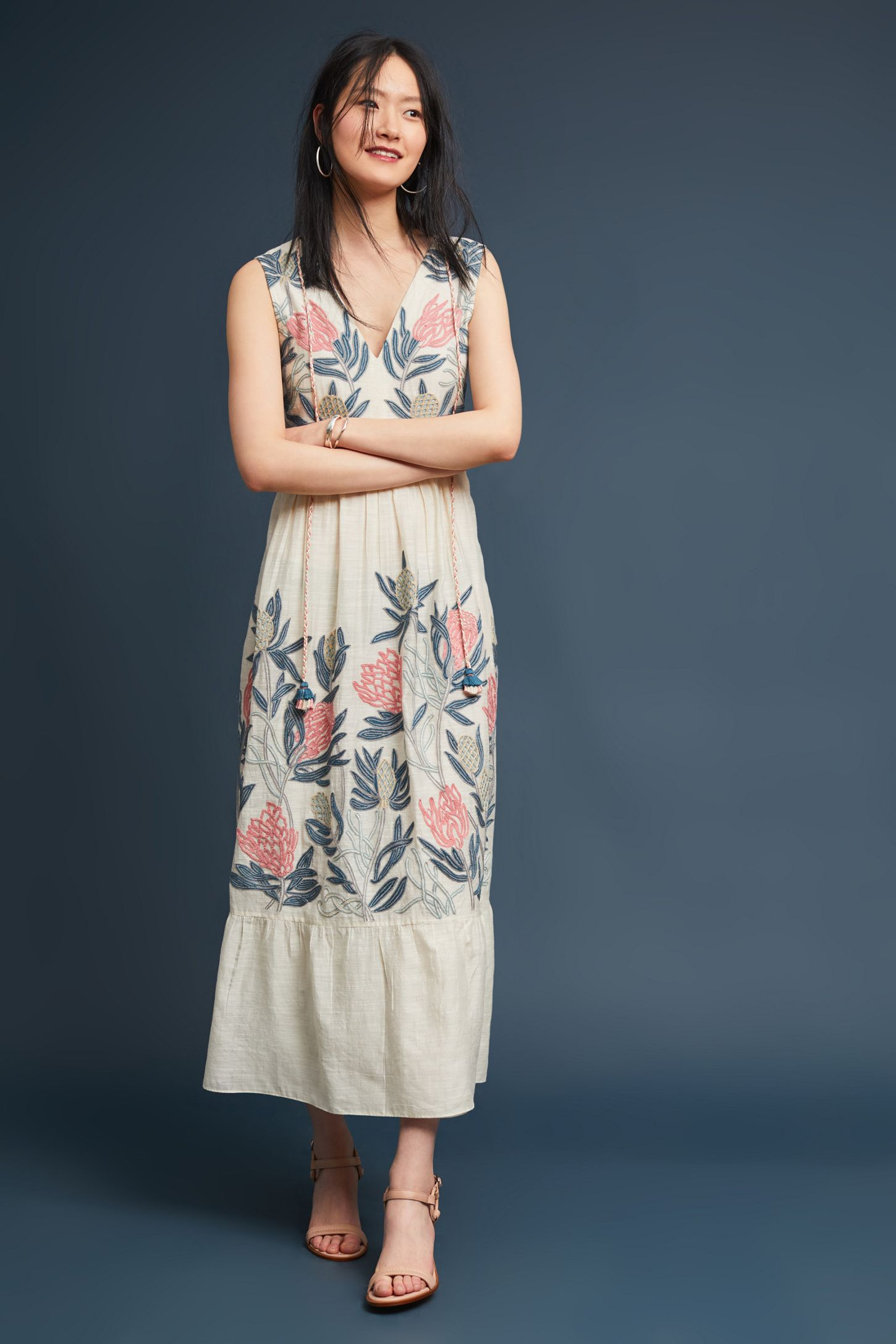 379d94066 Lola Embroidered Maxi Dress