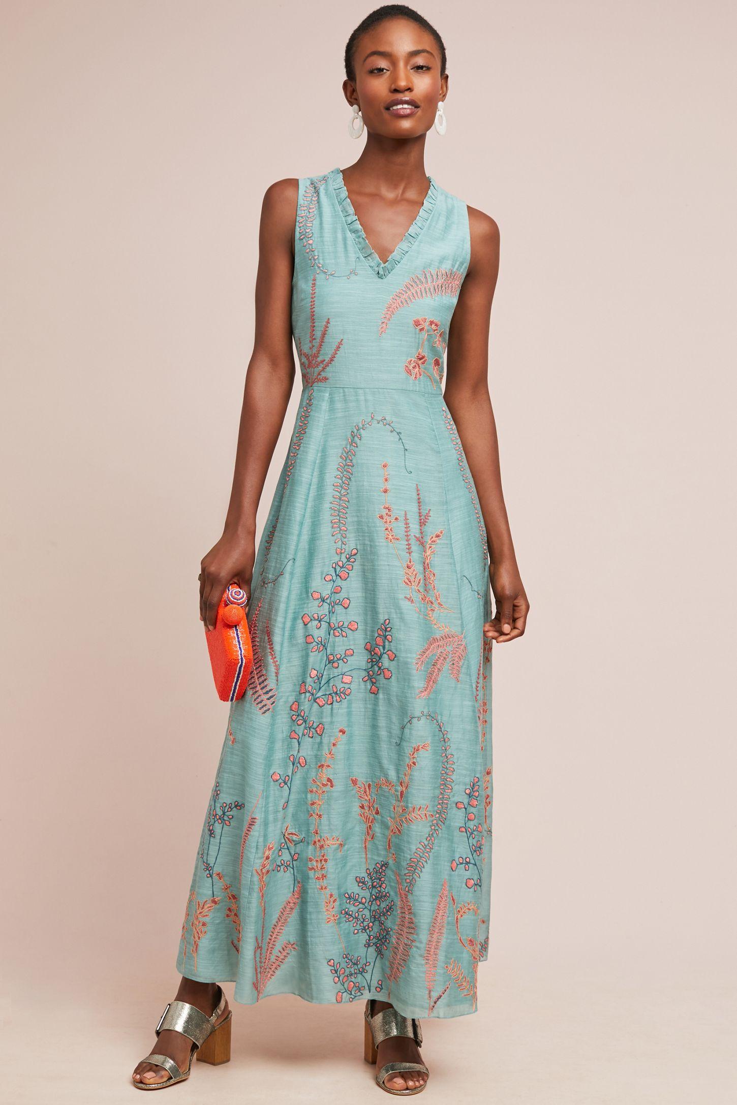 6d8f917f015b Reva Embroidered Maxi Dress | Anthropologie
