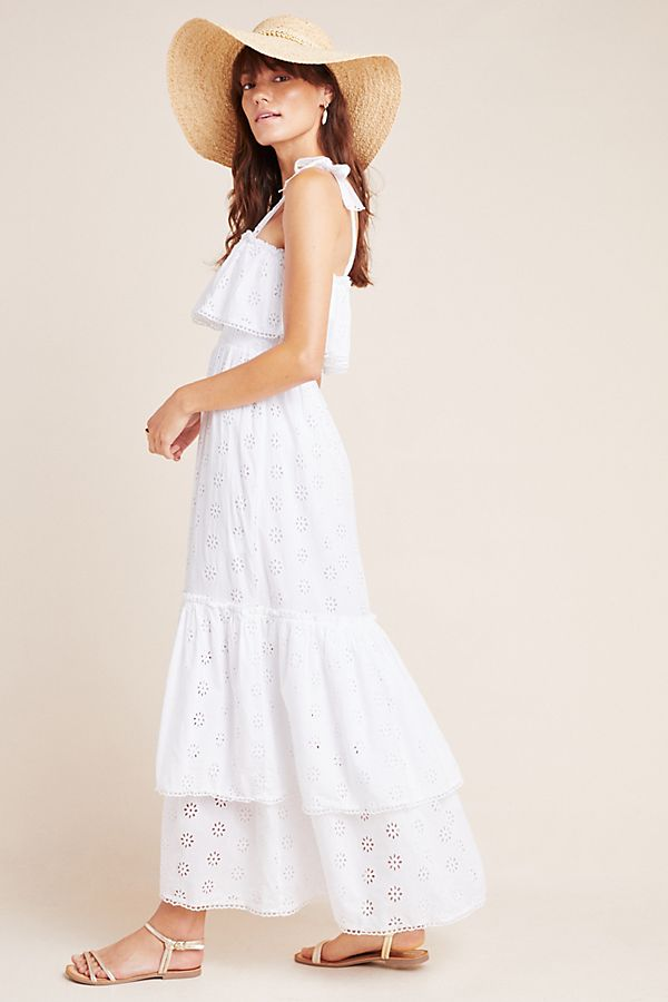 Slide View: 1: Linnea Tiered Eyelet Maxi Dress