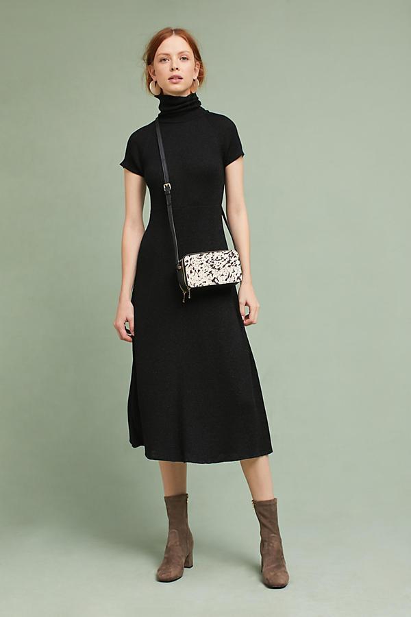 be8d9b59fdee Knit Turtleneck Midi Dress