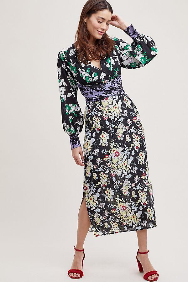 87d98c911d1 Rixo London Fedora Wrap Silk Dress | Anthropologie UK