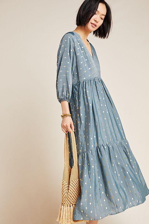 Napoli Tiered Maxi Dress by Anthropologie