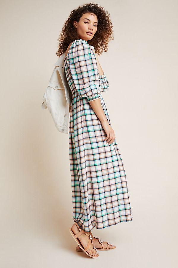 Slide View: 1: Cerie Smocked Midi Dress