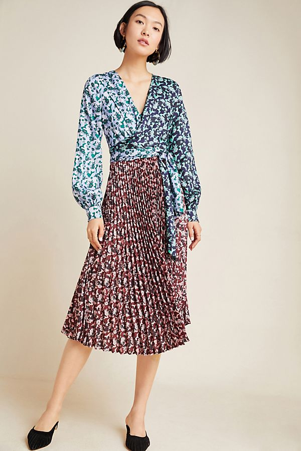 Slide View: 1: Camille Pleated Midi Dress