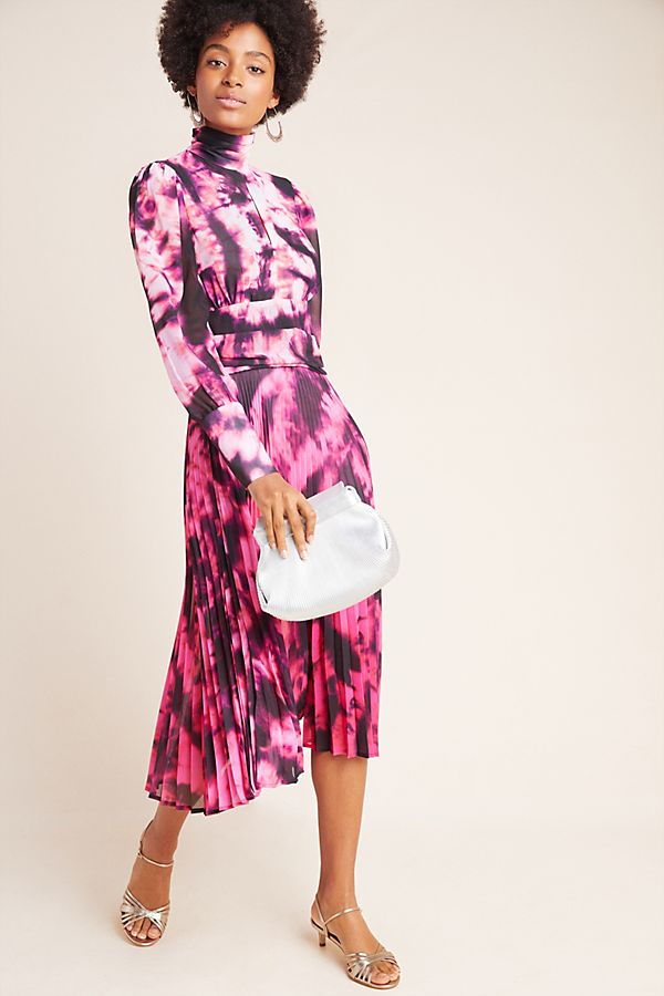 Slide View: 1: Stevie Tie-Dyed Midi Dress
