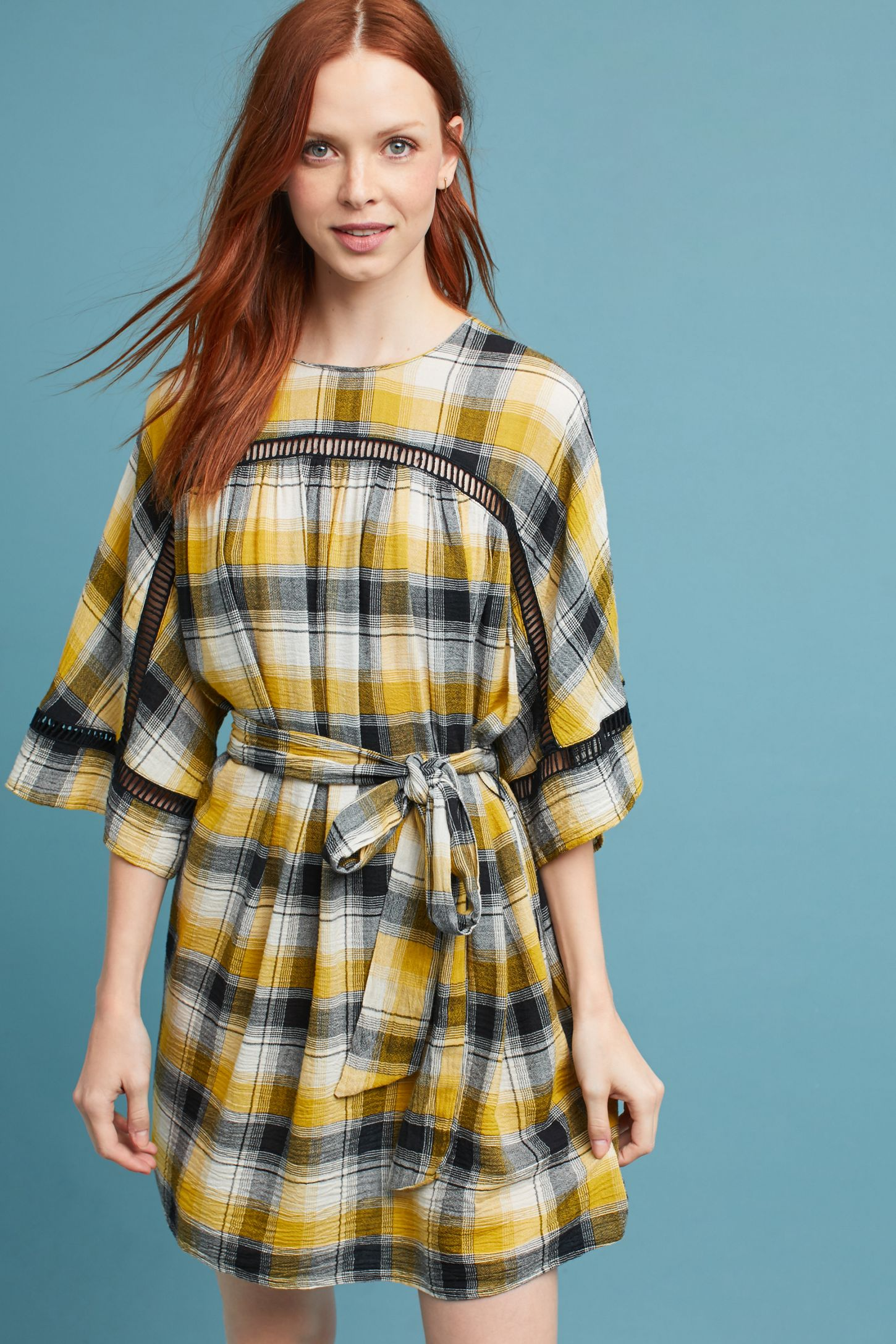 2a8e4ff7644 Tie-Waist Kimono Tunic Dress | Anthropologie