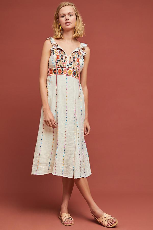 5610956e9c Llama Embroidered Dress