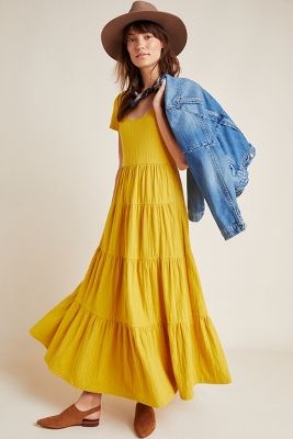 Gillian Tiered Maxi Dress by Maeve