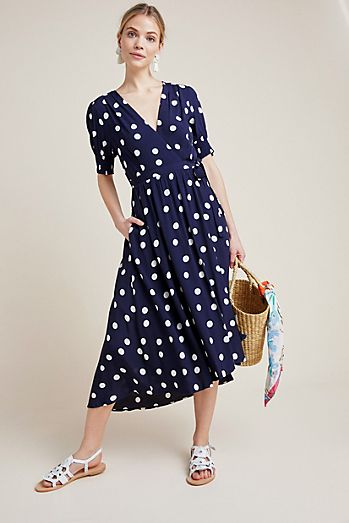 917813077d Polka Dot Wrap Dress