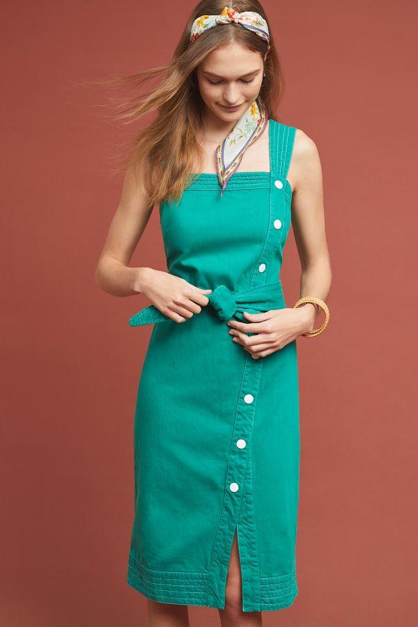 Slide View: 1: Elizabeth Button-Front Dress - Anthropologie