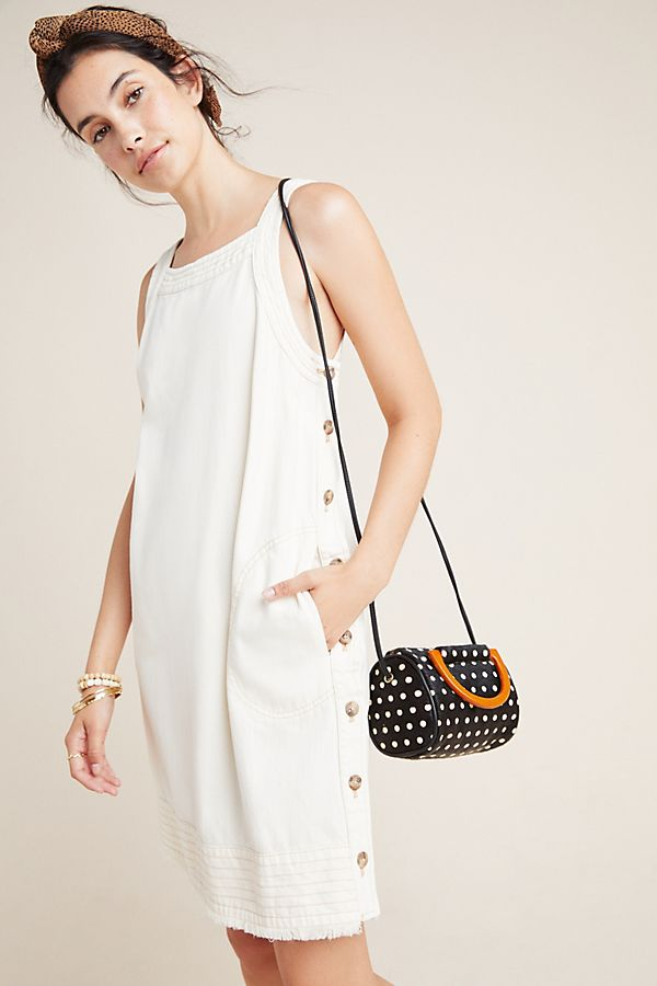 Slide View: 1: Crosley Buttoned Mini Dress