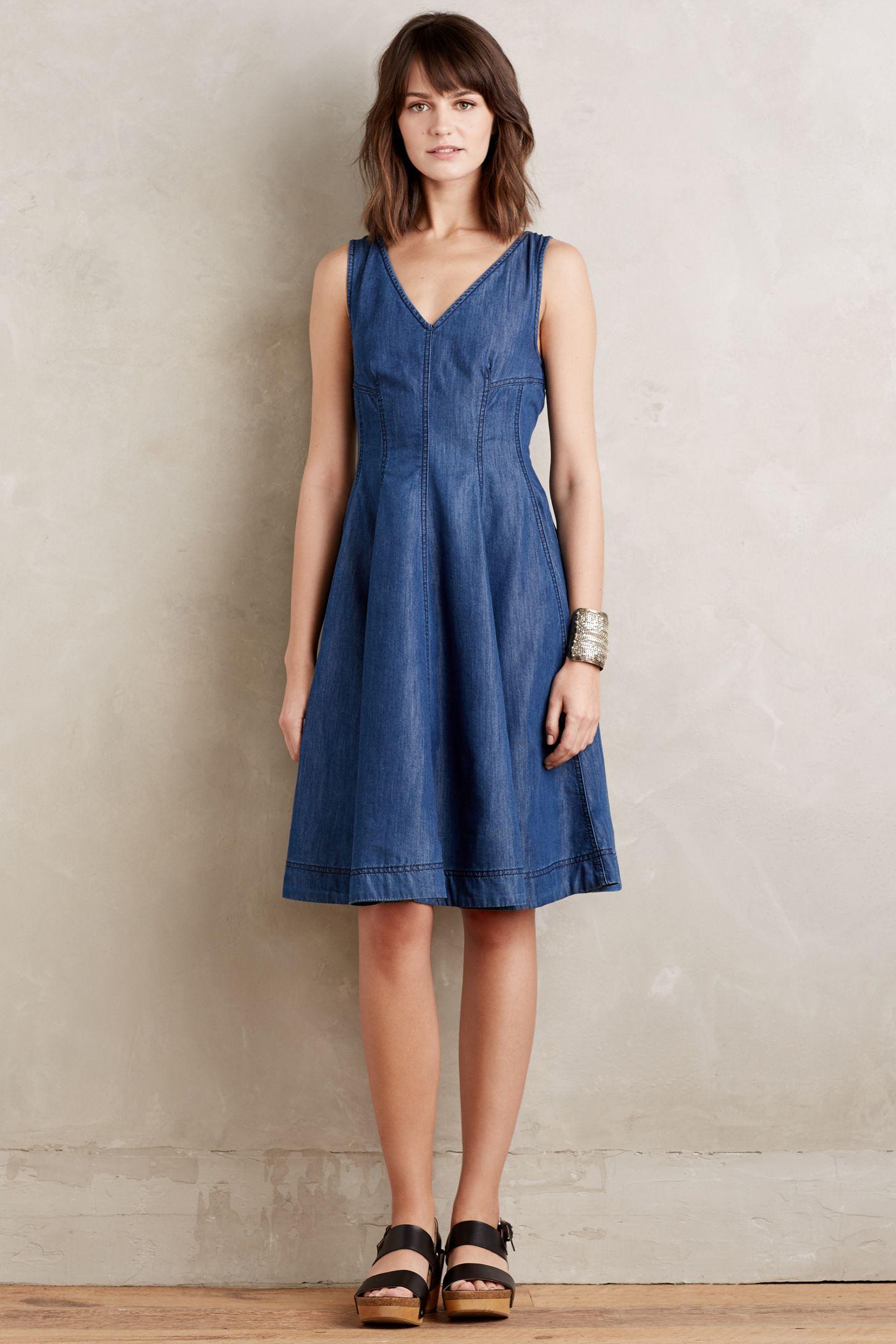 94f2f365905 Buy Sleeveless Denim Dress Uk