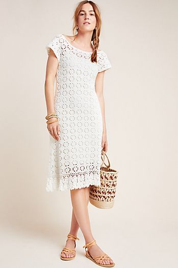 bab6ca23580 Brittania Crochet Midi Dress
