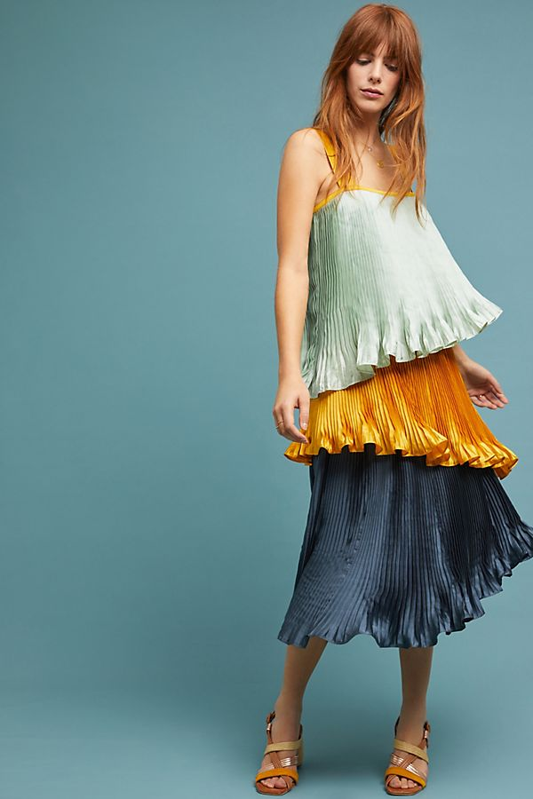 ade588ee4bb3 Pleated Colorblock Dress | Anthropologie