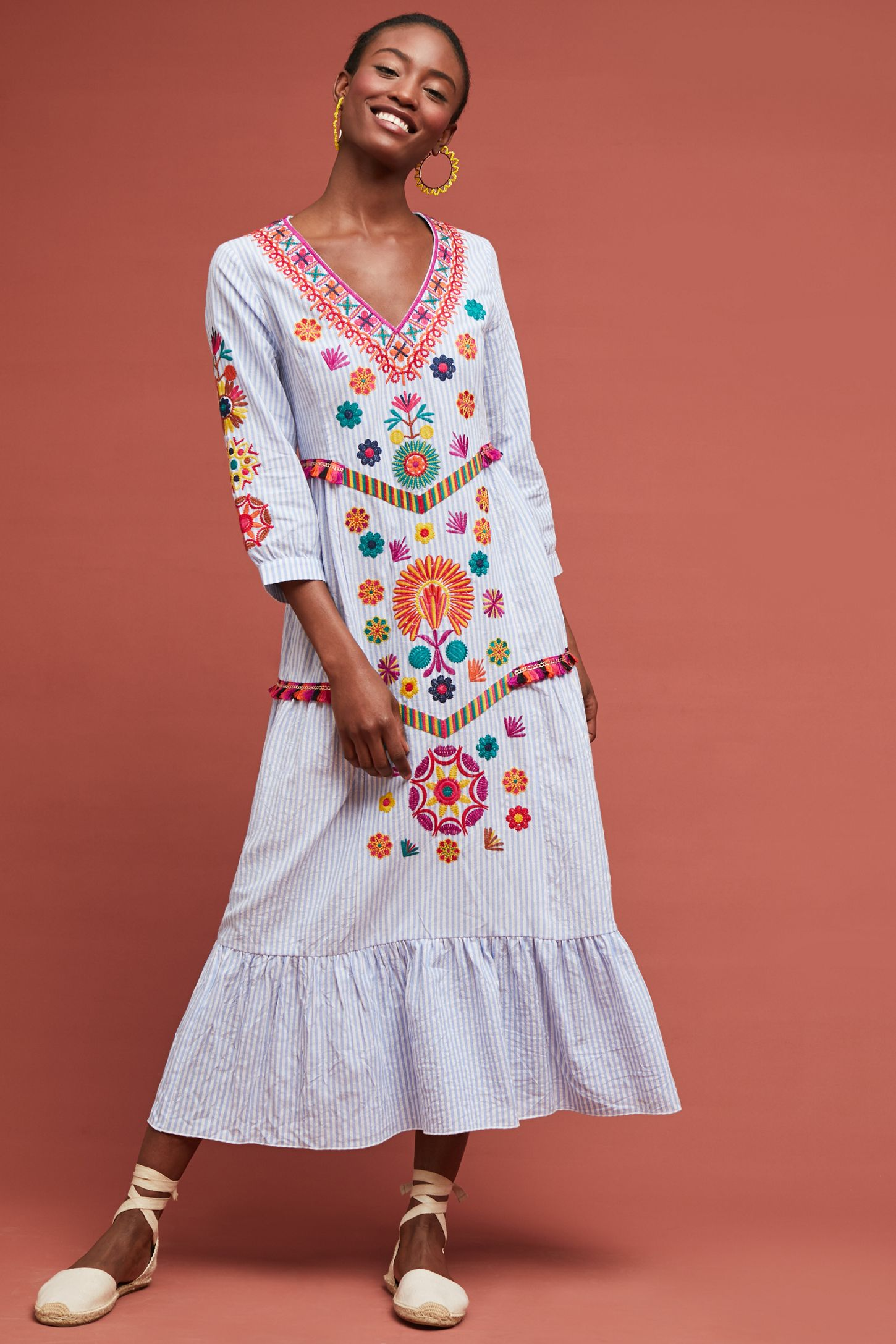 d4be152ba2cb Genevieve Embroidered Maxi Dress