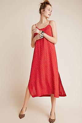 Slide View: 1: Polka Dot Slip Dress