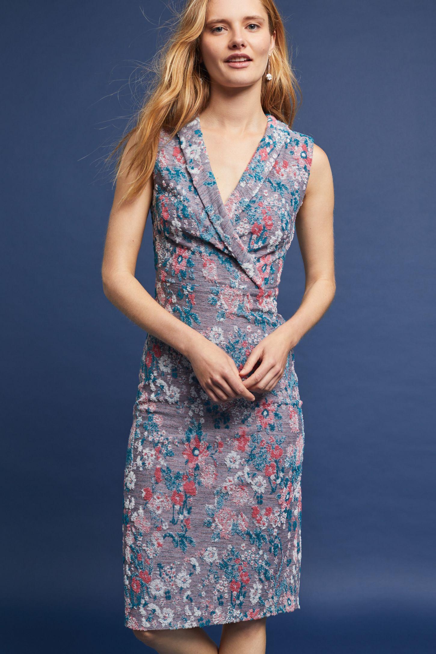 082c89df Sleeveless Jacquard Dress   Anthropologie