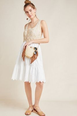 Brittney Crochet Top Dress by Anthropologie