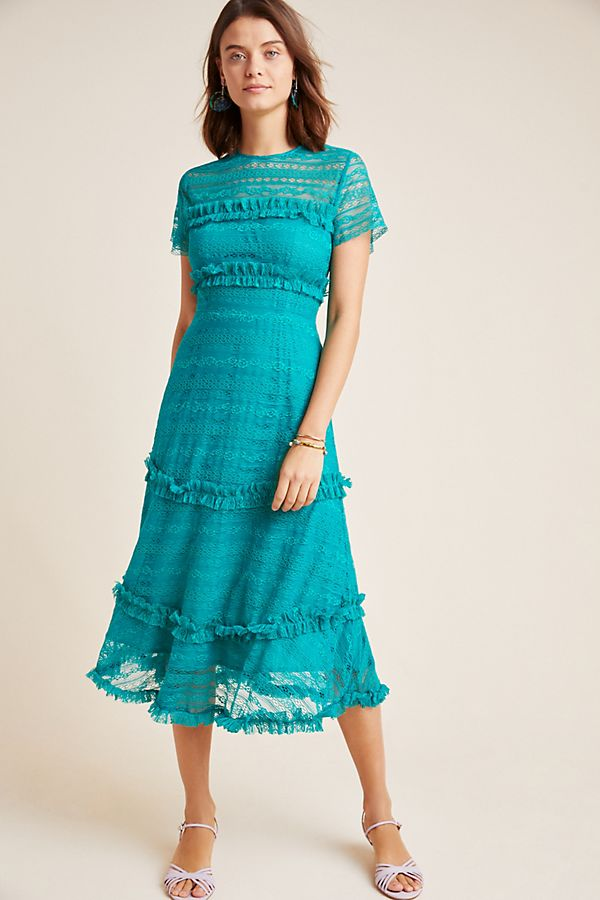 Slide View: 1: Dashing Lace Midi Dress