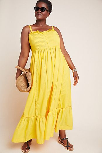 c36edf2d83db Yellow - Plus Size Dresses | Maxi, Cocktail & More | Anthropologie