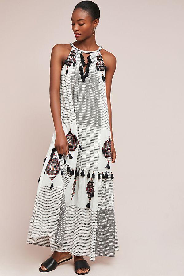e5b2d3a951a Puebla Tasseled Maxi Dress