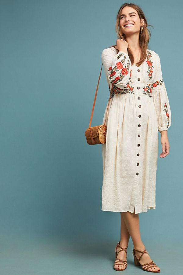 e7256046862 Gracie Embroidered Peasant Dress