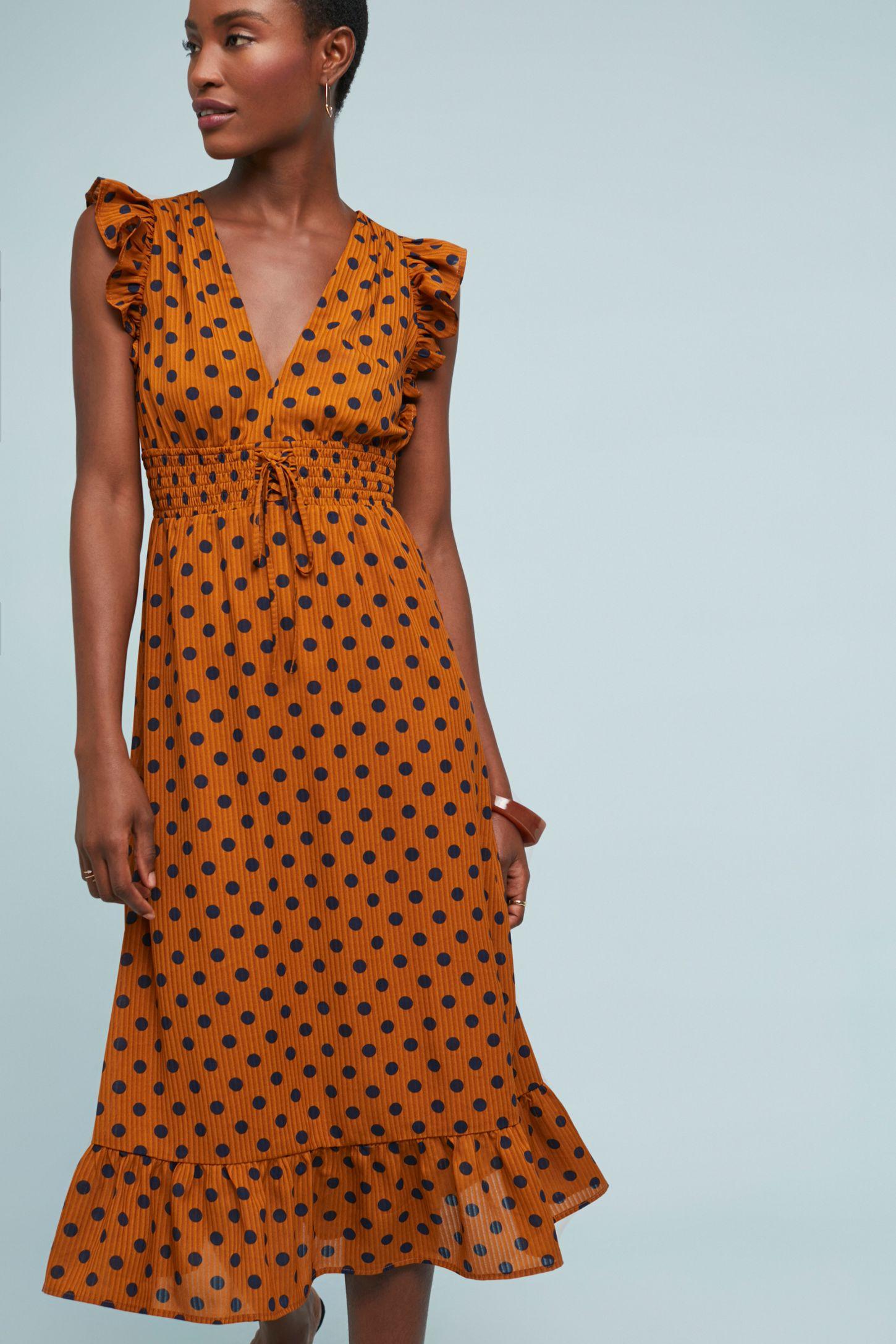 8fb7b55e797e Makeda Polka Dot Dress | Anthropologie