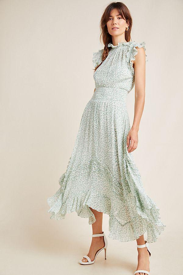 Slide View: 1: Aurielle Ruffled Midi Dress