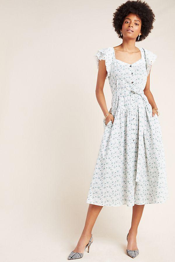 Slide View: 1: Poppy Lace Midi Dress
