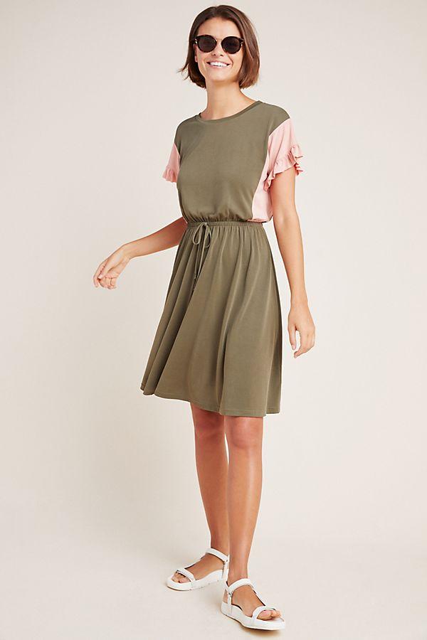 Slide View: 1: Taryn Colorblocked Mini Dress