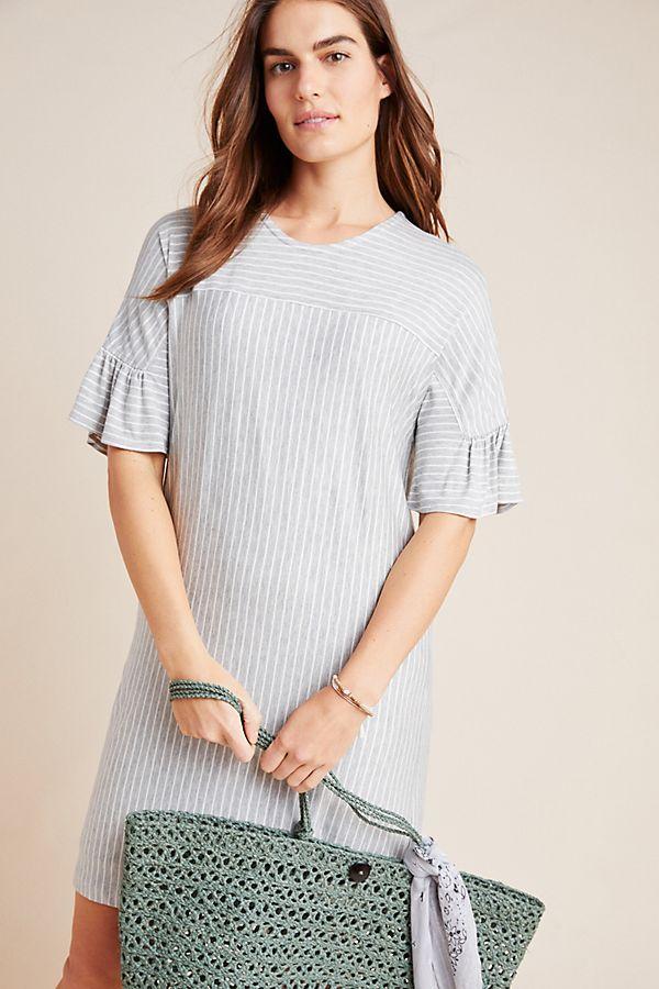 Slide View: 1: Striped Tunic Dress