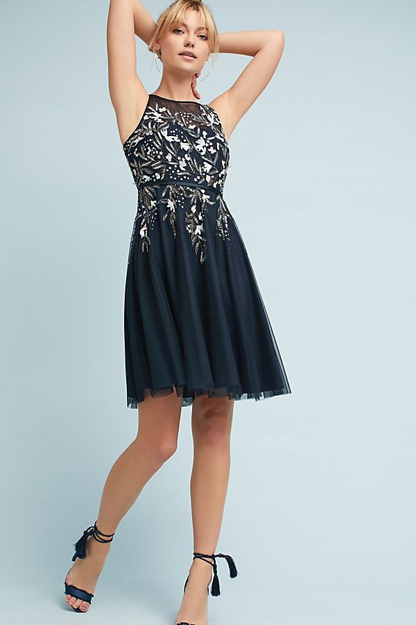 Embroidered Tulle Party Dress