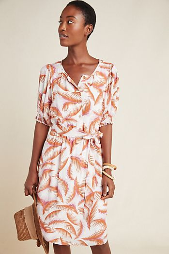 c1bedd9b74 Nicole Puff-Sleeved Shirtdress